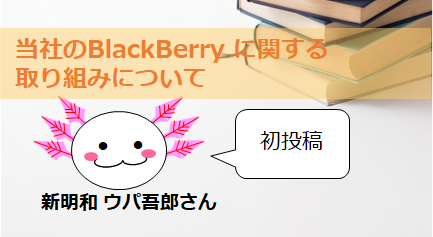 BlackBerryのお値段の話 by 新明和 太郎